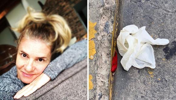 Johanna San miguel se mostró molesta tras ver imágenes de guantes y mascarillas botadas en las calles de Lima. (@johanna_san_miguel_dammert).