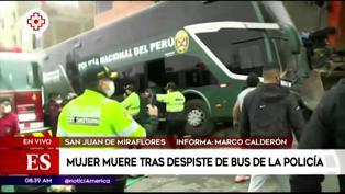 SJM: mujer muere atropellada tras despiste de bus policial