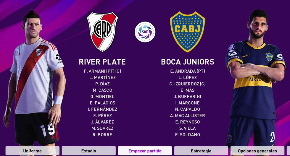 river plate vs boca juniors 2020