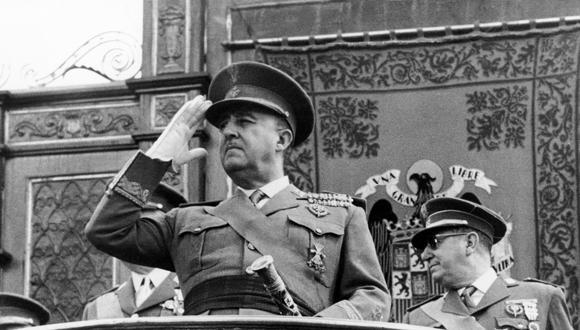 Fotografía tomada en los años 60 del General Francisco Franco. (Foto: AFP/ Archivo)