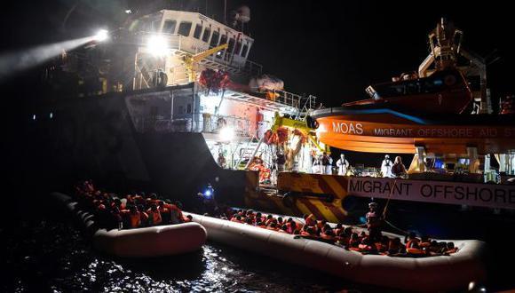 Italia: Rescatan a 2.200 inmigrantes en el mar Mediterráneo