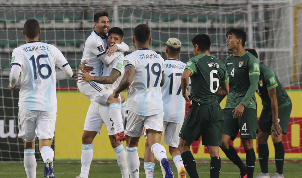 Bolivia vs. Argentina: las imágenes del triunfo Albiceleste en La Paz por Eliminatorias. (Foto: AFP)