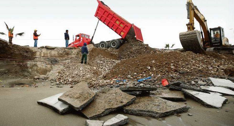 Emape  construyó malecón Costa Verde Sur sin pruebas de oleaje