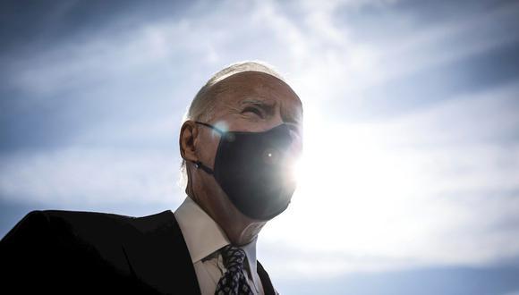 El presidente de EE.UU, Joe Biden, hablando con la prensa este viernes 19 de marzo de 2021 en Washington D.C. (Foto: EFE/EPA/Oliver Contreras)
