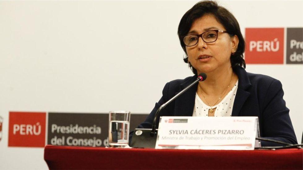 Sylvia Cáceres, ministra de Trabajo. (Foto: Archivo)