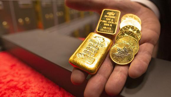 Los futuros del oro en Estados Unidos ganaban 0,9% a US$1.807,80 la onza. (Foto: AFP)