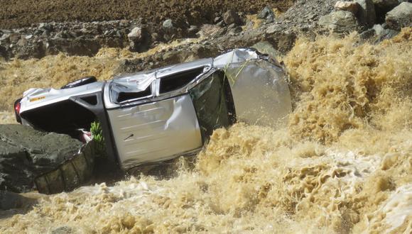 En la madrugada, se registró una intensa lluvia que provocó el desborde del río Piene. (Foto: Jorge Quispe Romero)