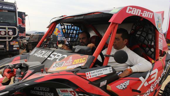 El nacional Juan Carlos Uribe marchaba tercero en UTV pero hoy sufrió la dureza del Dakar camino a San Juan. (Foto: Christian Cruz Valdivia)