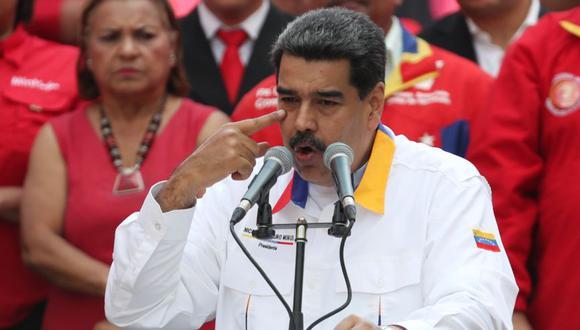 En un discurso frente a trabajadores de Conviasa transmitido por la televisora oficial VTV, con uno de los aviones de la empresa en el fondo, Tareck El Aissami culpó de la medida a Juan Guaidó, jefe parlamentario reconocido por Estados Unidos y medio centenar de países como presidente interino de Venezuela. En la imagen, Nicolás Maduro. (Foto: Reuters).