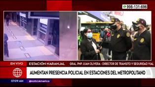 Metropolitano: incrementan presencia policial en las estaciones