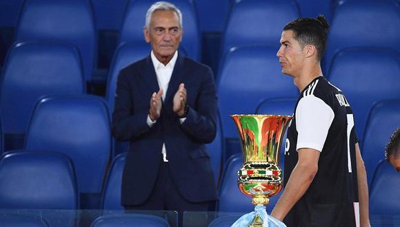 Cristiano Ronaldo no pudo disparar el quinto penal en la definición de la Copa de Italia. (Foto: EFE)