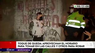 Coronavirus en Perú: personas incumplen el toque de queda y toman licor en las calles