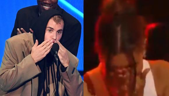 Justin Bieber y su tierno gesto con su esposa en los MTV Video Music Awards 2021. (Foto: AFP/Captura MTV).