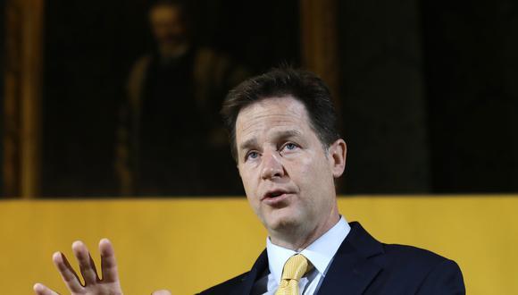 Nick Clegg, ex viceprimer ministro del Reino Unido. (Foto: AP)