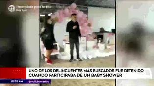 SJL: capturan a peligroso delincuente en baby shower