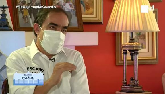 """Yonhy Lescano dijo que hay personas que han usado cañazo y sal para """"controlar"""" el coronavirus. La OMS ha descartado esta información   Foto: Captura de video / TV Perú"""
