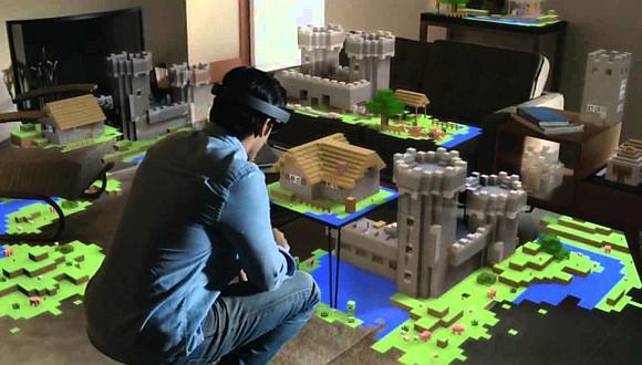 E3 2015: así es Minecraft para el HoloLens de Microsoft