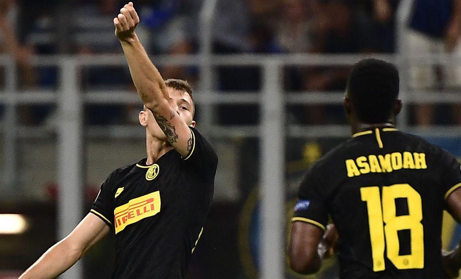 Inter vs. Slavia EN VIVO: Barella anotó el empate 1-1 con espectacular volea por Champions League | VIDEO. (Foto: AFP)