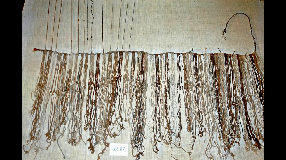 Quipu del valle del Santa, catalogado con el código UR87.