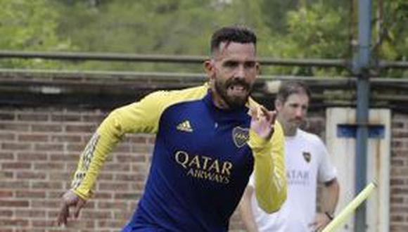 """""""Acá estoy de nuevo y trataré de hacer todo lo posible para a Boca le vaya bien"""". enfatizó Tevez. (Foto: Twitter @__CarlitosTevez)"""