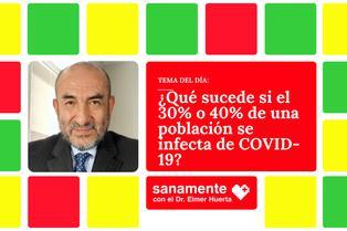 Sanamente: ¿Qué sucede si el 30% o 40% de una población se contagió de COVID-19?