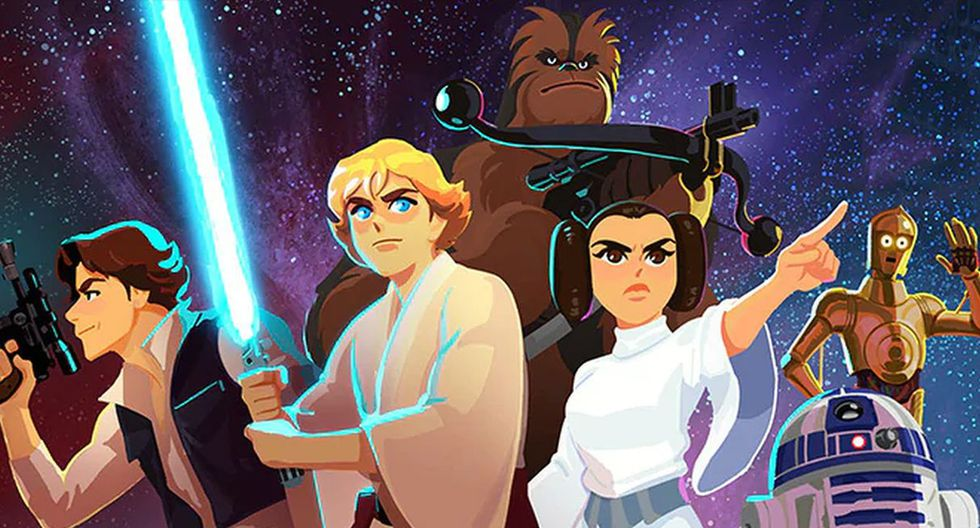 """Disney lanzó una serie de cortos infantiles que narrarán las aventuras de los personajes de la primera trilogía de """"Star Wars"""". (Foto: Disney)"""