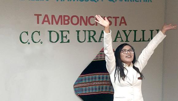 La joven, de 22 años de edad, alcanzó su meta en el Tambo Ura Ayllu. (Foto: Facebook / Programa Nacional País)