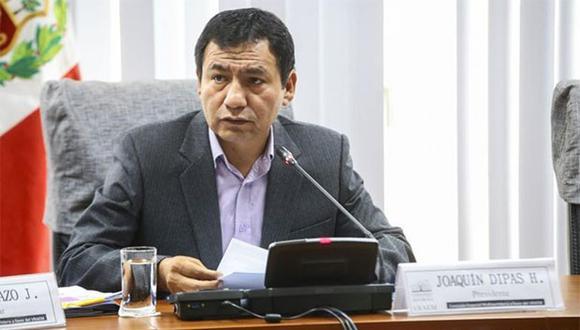 Joaquín Dipas de Fuerza Popular.  (Foto: Congreso de la República)