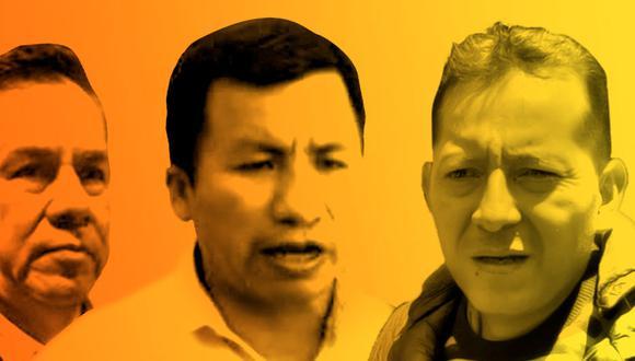 """Los congresistas Roberto Chavarría y Posemoscrowte Chagua representan al """"grupo parlamentario etnocacerista"""" dentro de la misma bancada de UPP, de la cual José Vega es el vocero. (Composición: El Comercio)"""