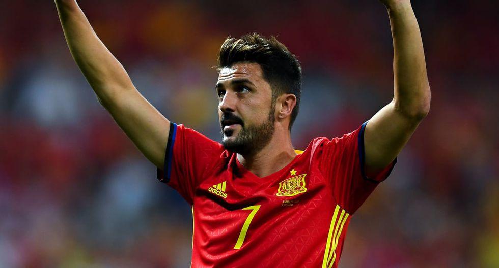 David Villa es el goleador histórico de la selección de España con 59 anotaciones. (Foto: AFP)