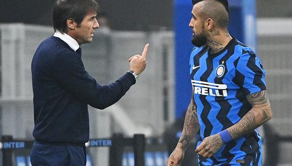 Al mando de Conte, Vidal ha jugado los diez partidos del Inter desde su llegada a Milán, ocho de ellos como titular. (Foto: AFP)