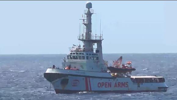 España enviará un buque militar para recoger a los migrantes del Open Arms. Foto: AFP