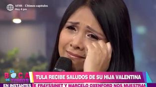 Tula Rodríguez se quiebra al recibir saludo de cumpleaños de su hija