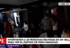 Perú vs. Paraguay: intervienen a 25 personas reunidas en un billar pese a restricciones por COVID-19 | VIDEO