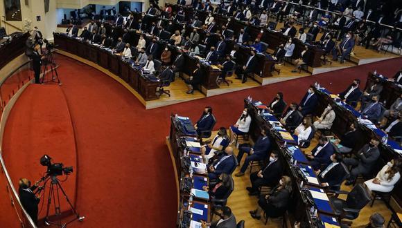 La moción contra el fiscal general Raúl Melara se presentó después de que 64 congresistas, de los 84 que componen la Asamblea Legislativa, votaran por destituir a los magistrados de la Sala de lo Constitucional de la Corte Suprema de Justicia. (Foto: Stanley ESTRADA / AFP).