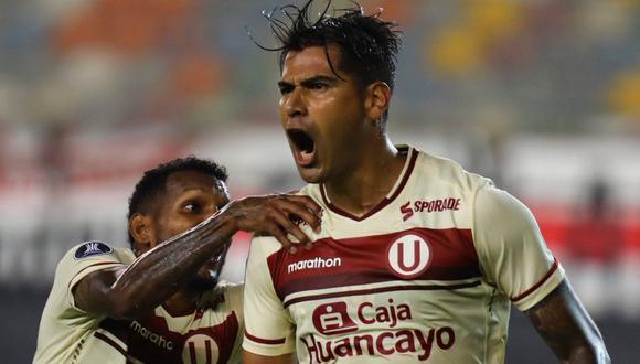 Enzo Gutiérrez anotó el empate 2-2 de Unviersitario ante Palmeiras. (Foto: Universitario de Deportes)