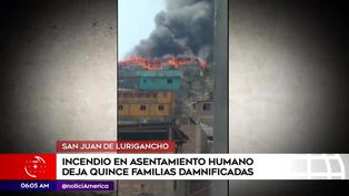 SJL: 15 familias piden ayuda tras perderlo todo en incendio