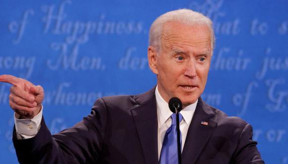 El candidato presidencial demócrata Joe Biden habla durante el debate final de la campaña presidencial estadounidense de 2020 en el Curb Event Center de la Universidad de Belmont en Nashville, Tennessee. (Foto: REUTERS / Jonathan Ernst).