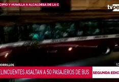 Chorrillos: delincuentes armados asaltan bus con 50 pasajeros