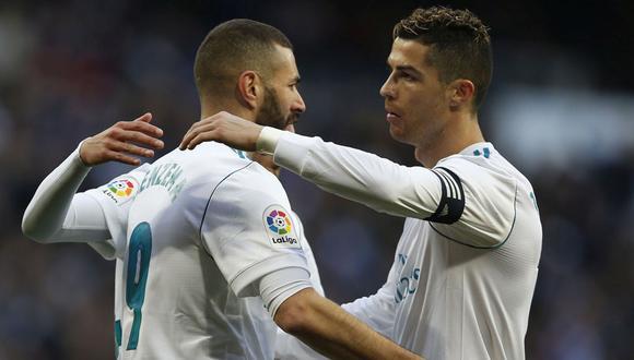 Cristiano Ronaldo y Karim Benzema llegaron juntos al Real Madrid en la temporada 2009-2010 y disputaron más de 300 partidos. (Foto: AP)