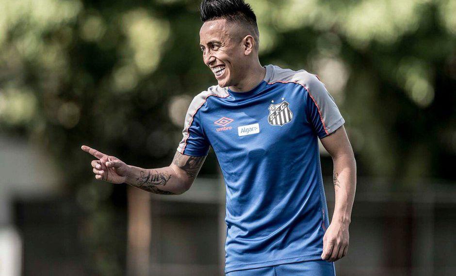 """""""Christian Cueva acaba de cumplir 27 años y el fútbol le vuelve a brindar una oportunidad dorada"""".(Foto: Santos)."""