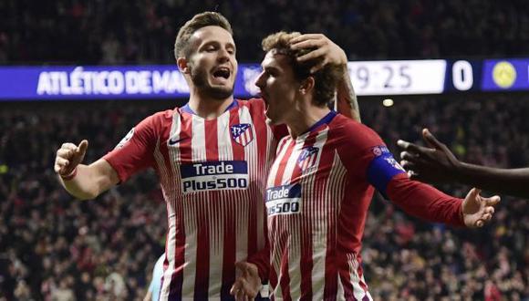 Griezmann y Saúl Ñíguez fueron compañeros de Atlético de Madrid durante cinco temporadas. (Foto: AFP)