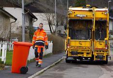 Así opera un camión de basura sin conductor