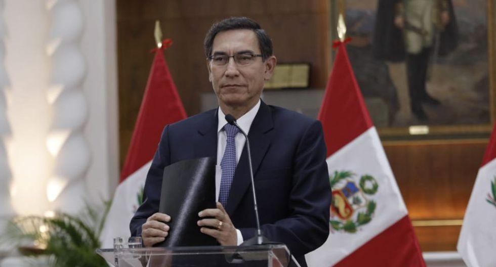 Presidente Martín Vizcarra afirmó que la mayoría en el Congreso busca copar el TC (Foto: Antonhy Niño de Guzmán)