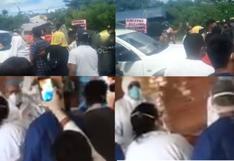 Iquitos: grupo de moradores intercepta comitiva del Ejecutivo y le solicita ayuda ante el COVID-19