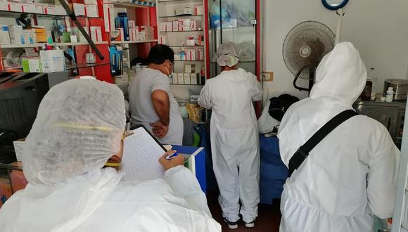 Las farmacias intervenidas estaban en los alrededores del Hospital Regional de Lambayeque. (Foto: Fiscalía)