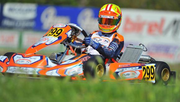 Matías Zagazeta conquistó un gran resultado para nuestro país tras obtener el 3er puesto el campeonato de karting más importante del país francés. (Foto: ITEA Comunicaciones).