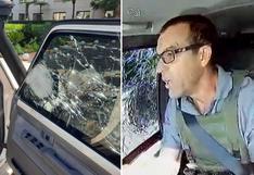 Vehículo blindado sufre intento de robo al paso, pero los nervios de acero del conductor salvaron el día
