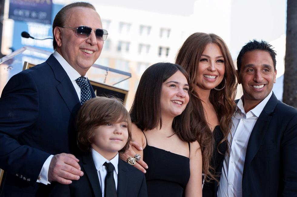 Thalía y Tommy Mottola con sus hijos. (Foto: Agencias)