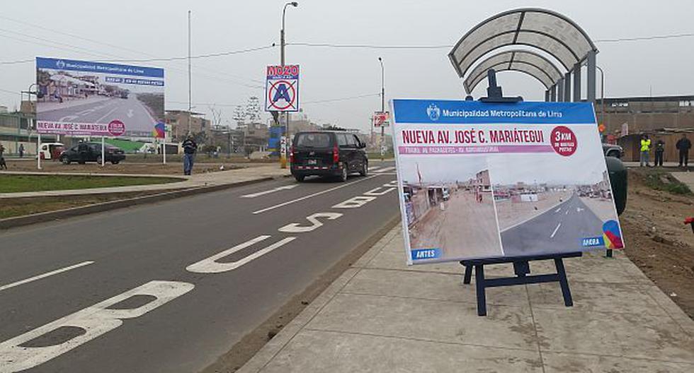 Presentan renovada avenida José Carlos Mariátegui en VES - 1